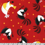 Metro Market Chicken Apron Fabric Red
