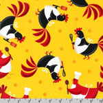 Metro Market Chicken Apron Fabric Yellow
