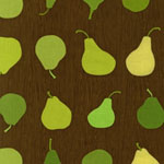 Metro Cafe Metro Cafe Pears Brown Fabric