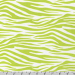 Metro Living Zebra Lime Green Fabric