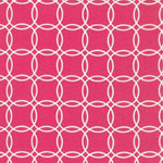 Metro Living Interlocking Circles Fuchsia Fabric
