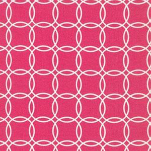 Metro Living Interlocking Circles Fuchsia Fabric