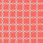 Metro Living Interlocking Circles Coral Fabric