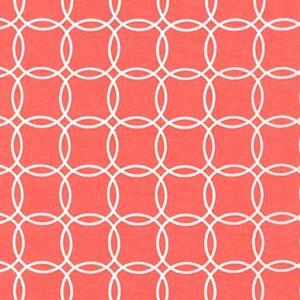 Metro Living Interlocking Circles Coral Fabric
