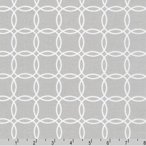 Metro Living Interlocking Circles Silver Fabric