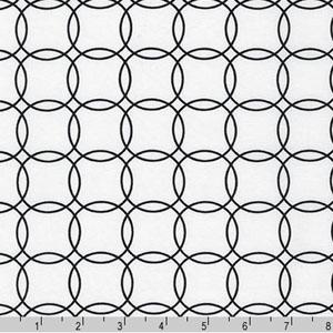 Metro Living Interlocking Circles Black White Fabric