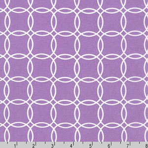 Metro Living Interlocking Circles Violet Fabric