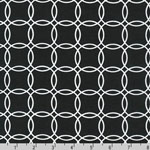 Metro Living Interlocking Circles Black Fabric