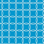 Metro Living Interlocking Circles Turquoise Blue Fabric