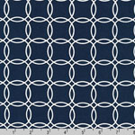 Metro Living Interlocking Circles Navy Fabric