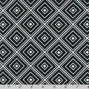 Metro Living Diamond Black Fabric