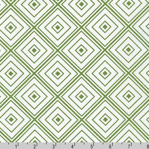 Metro Living Diamond Grass Green Fabric