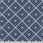 Metro Living Diamond Navy Fabric