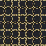 Metro Living Metallic Interlocking Circles Jet Fabric