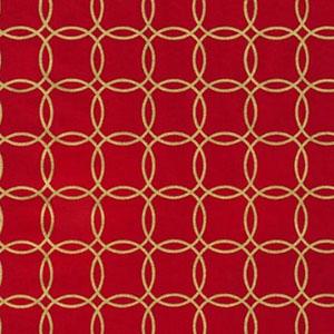 Metro Living Metallic Interlocking Circles Red Fabric