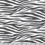 Metro Living Zebra Print Gray Fabric