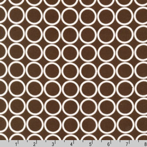 Metro Living Circle Brown Chocolate Fabric