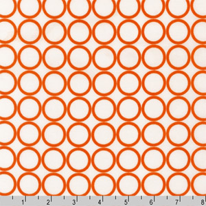 Metro Living Circle Carrot Orange Fabric