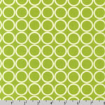 Metro Living Circle Chartreuse Fabric