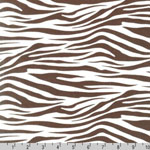 Metro Living Zebra Brown Fabric