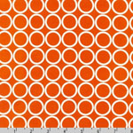 Metro Living Circle Orange White Fabric