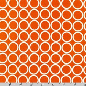 Metro Living Circle Orange White Fabric