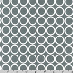 Metro Living Circle Gray Fabric