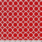 Metro Living Circles Red Fabric