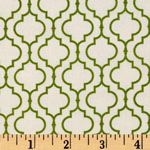 Metro Living Geometric Leaf Green Fabric
