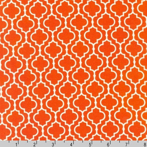 Metro Living Geometric Orange Fabric
