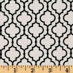 Metro Living Geometric Black Cream Fabric