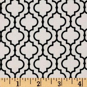 Metro Living Geometric Black Cream Fabric