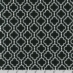 Metro Living Geometric Black Fabric