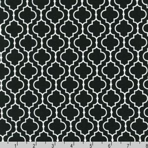 Metro Living Geometric Black Fabric