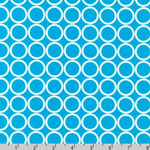 Metro Living Circle Turquoise Fabric