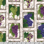 Napa Valley Wine Grapes Fabric