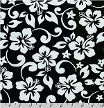 Paradise Pareaus Black Fabric