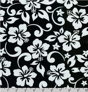 Paradise Pareaus Black Fabric