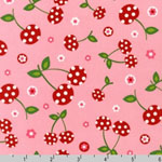 Picnic Party Cherry Petal Pink Fabric
