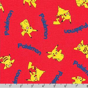 Pokemon Pikachu Red Fabric
