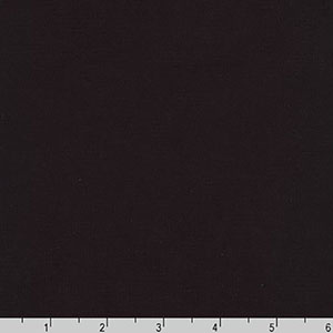 Premier Stretch Poplin Solid Black Fabric