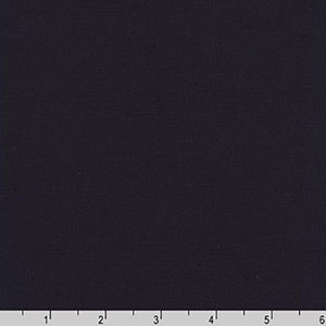 Premier Stretch Poplin Solid Midnight Navy Blue Fabric