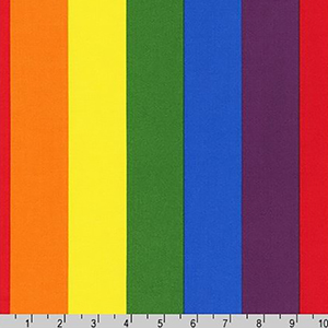 Pride Large Stripe Rainbow Fabric