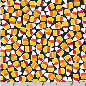 Pumpkin Fun Candy Corn Fabric