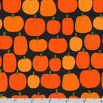 Pumkin Fun Pumpkins Orange Black Fabric