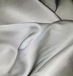 Radiance Cotton Silk Blend Solid Silver Gray Fabric
