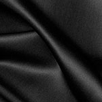 Radiance Cotton Silk Blend Solid Black Fabric