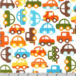Ready, Set, Go Cars Cream Organic Fabric