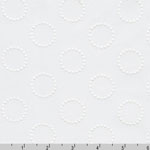 Rebecca Embroideries Fabric Circles White Fabric
