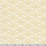 Rebecca Embroideries Flower Eyelet Natural Fabric